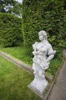 Statue in Formal Garden