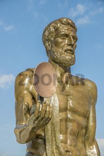 Statue of Archimedes, Ortygia Island, Syracuse, Sicily, Italy