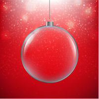 Xmas Ball Red Background