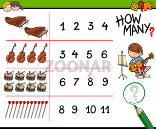 how many musical instruments counting game