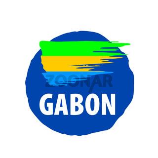 Gabon flag, vector illustration on a white background.
