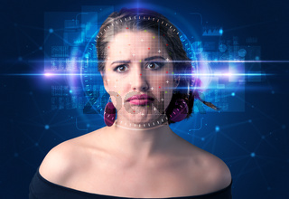 Biometric verification - woman face detection