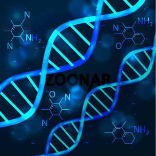 vector abstract technology science concept DNA futuristic