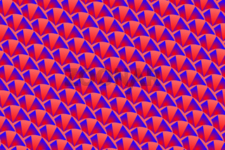 Symmetrical abstract pattern in red and blue colors