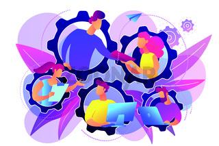 Dedicated team it concept vector illustration