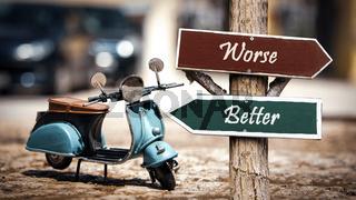 Street Sign Better versus Worse