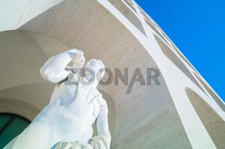 Statues in EUR quarter, Rome Italy