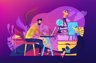 Office fun concept vector illustration.
