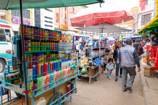Sucre Bolivia farmer market products for home cleaning and personal hygiene
