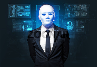 young man face recognition