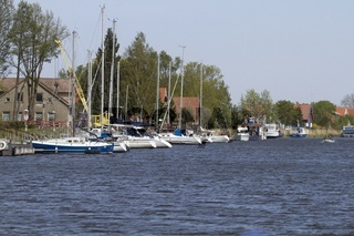 Hafen von Nida, Memeldelta, Litauen