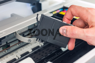 Refilling third party printer cartridges; inkjet.