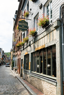 the historic Dauphin Hotel in the old town of Honfleur