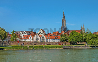 Blick über die Donau nach Ulm und zum Münster