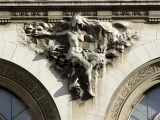 Reliefs, symbols, architectural decorations of ancient buildings
