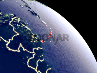 Caribbean from space