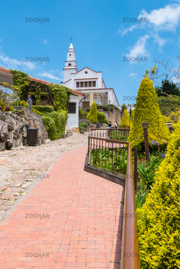 Bogota climb to the sanctuary of Monserrate in a sunny day