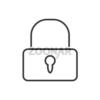 Lock line icon on a white background