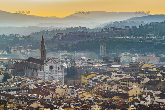 Aerial View Florence, Italy
