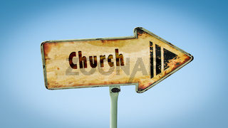 Street Sign to Church