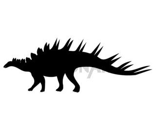 Kentrosaurus silhouette dinosaur jurassic prehistoric animal