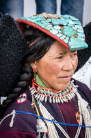 Indian woman on festival in Ladakh