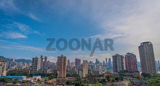 Panorama of Chongqing city
