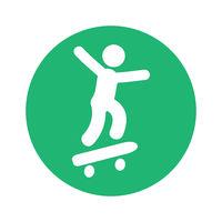 skateboarder pictoram round