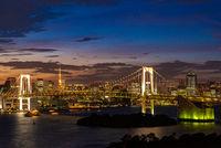 Tokyo Tower Rainbow bridge Japan