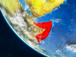 Somalia from space on Earth