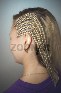 cornrows Brades on the temple for the girl blondes