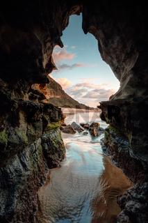 Nature's window - sunrise beach cave