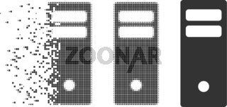 Moving Pixel Halftone Server Mainframe Icon