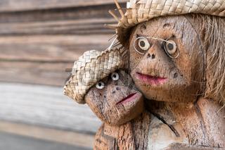 Statuette of two monkeys