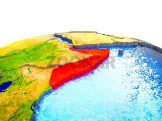 Somalia on 3D Earth