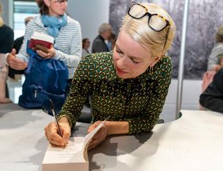 FRANKFURT AM MAIN, Germany - October 19 2019: Linn Ullmann at 71st Frankfurt Book Fair / Buchmesse Frankfurt