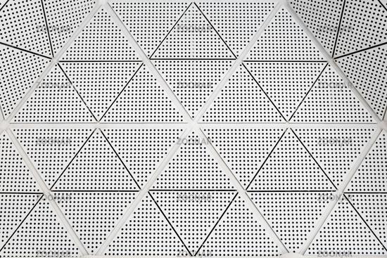 Modern metal ceiling pattern