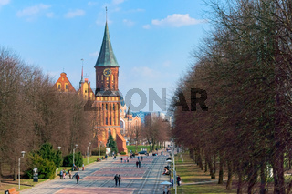 Cathedral in Kaliningrad, Cathedral of our lady and St. Adalbert, brick Gothic