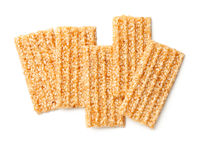 Sesame Seed Bars Isolated On White Background