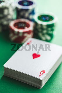 Poker cards and chips.