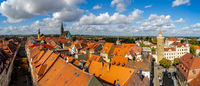Panoramic view of the town from the height of Reichenturm (Leaning Tower).