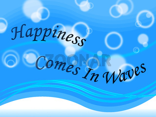 Thought For The Week - Happiness Waves - 3d Illustration