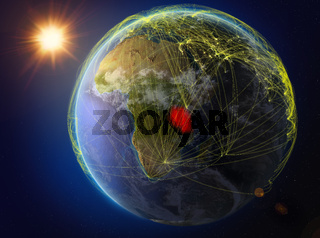 Tanzania on Earth with network