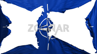 Destroyed NATO flag