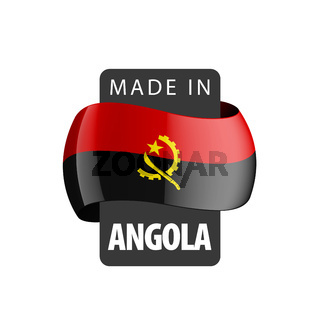Angola flag, vector illustration on a white background