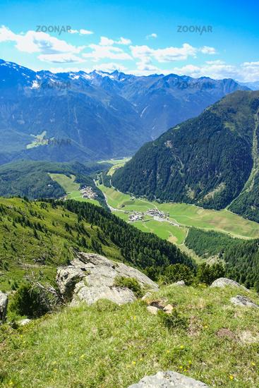 View in direction Niederthai, Ötztal, Osttirol