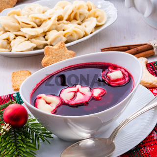 red barszcz with uszka a polish christmas soup
