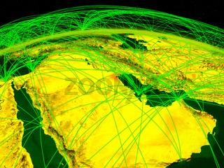 Kuwait on digital globe