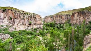 panoramic view of Ihlara Valley in Cappadocia