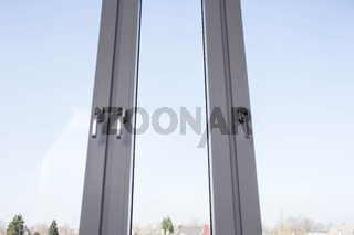 New Plastic window frames, vinyl on new home concept